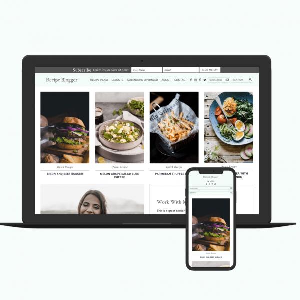 recipe blogger theme