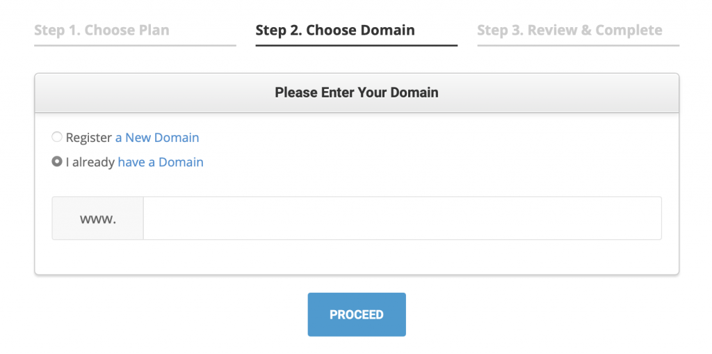existing domain